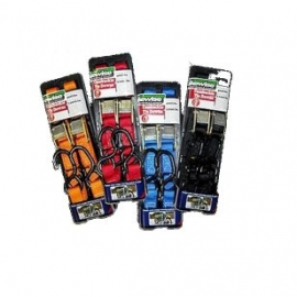 BIKEWISE CAMBUCKLE TIE DOWNS RED 2-PACK